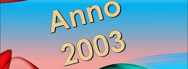 Risultati Anno 2003