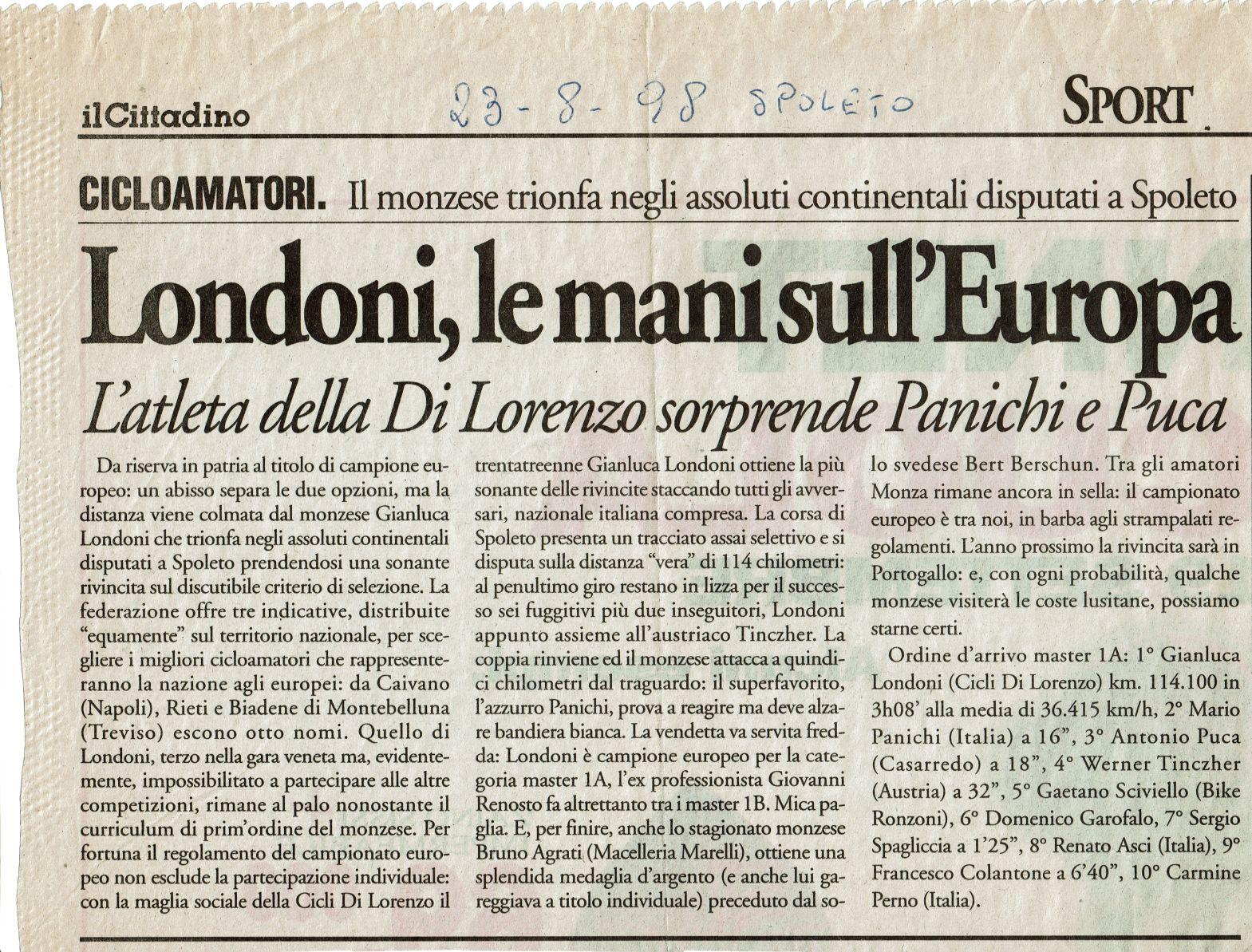 21 23 agosto 1998 Spoleto