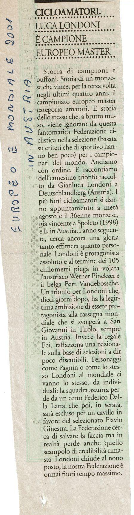 28 25 Agosto 2001 Austria 2001
